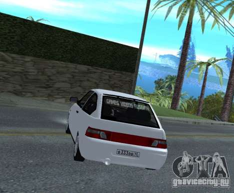 ВАЗ 2112 GVR Version 1.1 для GTA San Andreas вид сзади слева