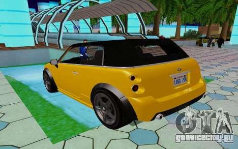 GTA 5 Weeny Issi V1.0 для GTA San Andreas вид сзади слева