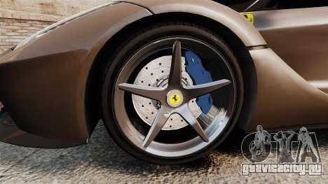 Ferrari LaFerrari v2.0 для GTA 4 вид сзади