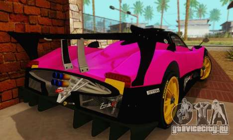 Pagani Zonda Type R Pink для GTA San Andreas вид сзади
