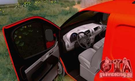 Opel Vivaro для GTA San Andreas вид изнутри