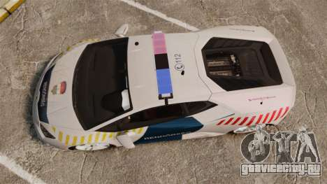 Lamborghini Huracan Hungarian Police [Non-ELS] для GTA 4 вид справа