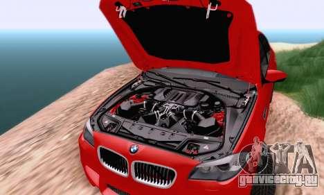 BMW F10 M5 2012 Stock для GTA San Andreas вид сзади