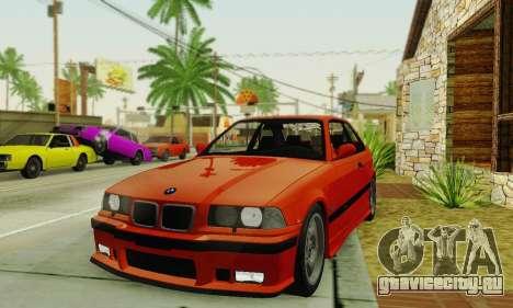 BMW E36 M3 1997 Stock для GTA San Andreas вид справа