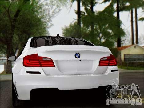 BMW 550 F10 VOSSEN для GTA San Andreas вид сбоку