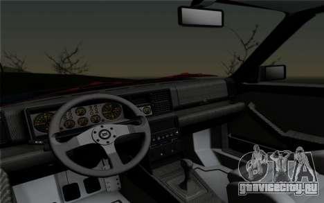 Lancia Delta HF Integrale Evo2 для GTA San Andreas вид сзади