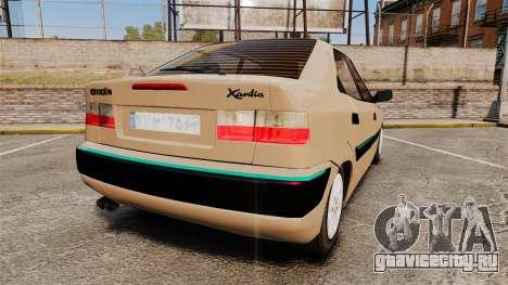Citroen Xantia для GTA 4 вид сзади слева