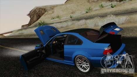 BMW M3 E46 GTR 2005 для GTA San Andreas вид снизу