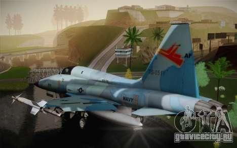 F-5E Tiger II для GTA San Andreas вид сзади слева