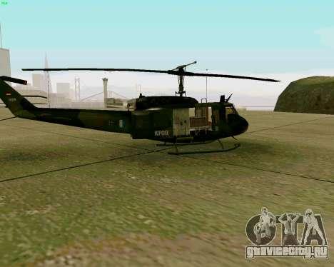 UH-1D Huey для GTA San Andreas вид сзади слева