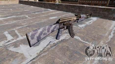 Автомат АК-47 Blue Camo для GTA 4 второй скриншот