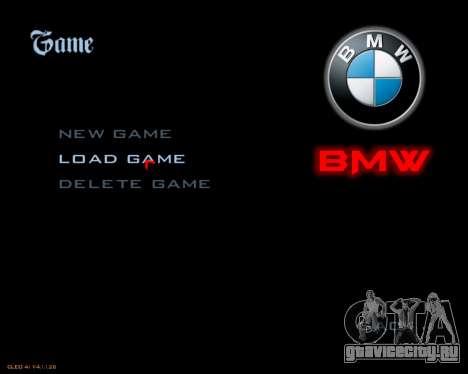 Новые изображения меню для GTA San Andreas