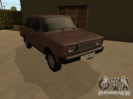 ВАЗ 2107 Ранняя версия для GTA San Andreas вид сзади