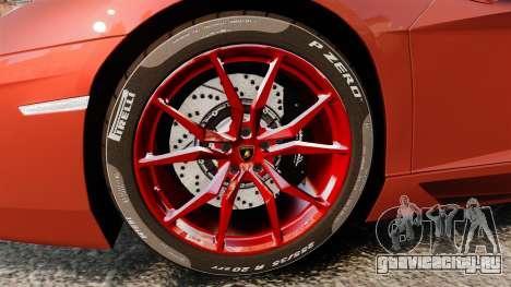 Lamborghini Aventador LP 700-4 Roadster [EPM] для GTA 4 вид сзади