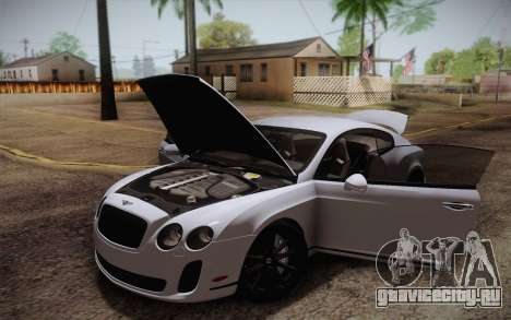 Bentley Continental SuperSports 2010 v2 Finale для GTA San Andreas салон