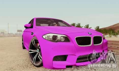 BMW F10 M5 2012 Stock для GTA San Andreas колёса