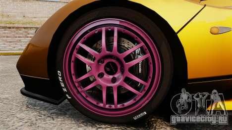Pagani Zonda C12 S Roadster 2001 PJ2 для GTA 4 вид сзади