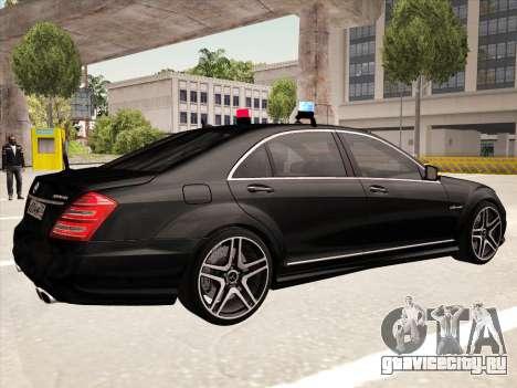 Mercedes-Benz S65 AMG 2012 для GTA San Andreas вид справа