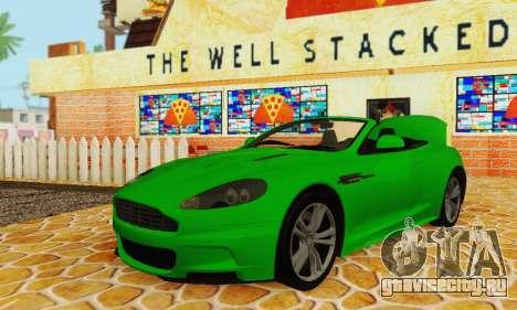 Aston Martin DBS Volante для GTA San Andreas вид изнутри