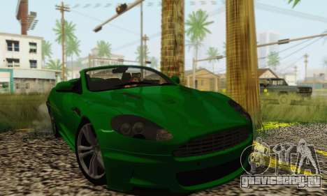 Aston Martin DBS Volante для GTA San Andreas вид сзади слева