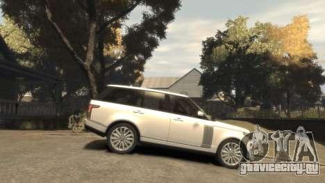 Range Rover Vogue 2014 для GTA 4 вид изнутри