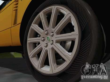 Range Rover Supercharged Series III для GTA San Andreas вид изнутри