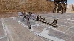 Автомат АК-47 Blue Camo