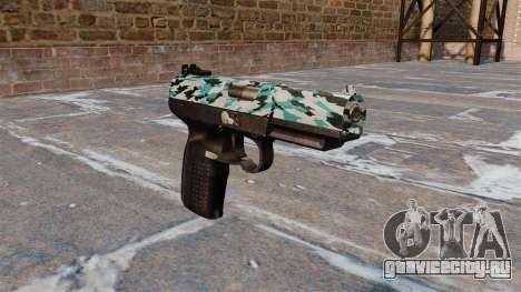 Пистолет FN Five-seveN Aqua Camo для GTA 4