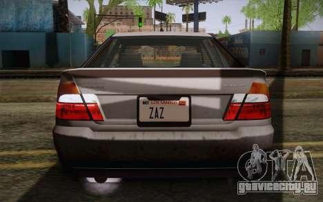 Sultan из GTA 5 для GTA San Andreas вид сверху