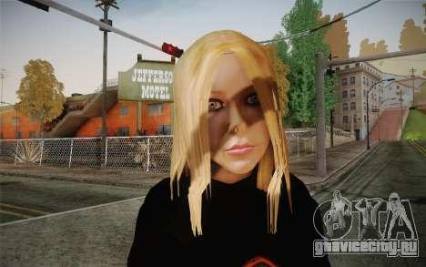 Avril Lavigne для GTA San Andreas третий скриншот