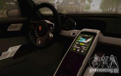 Porsche 918 2013 для GTA San Andreas вид справа