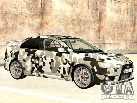 Mitsubishi Lancer Evolution X для GTA San Andreas