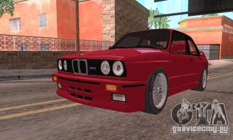 BMW E30 M3 1991 для GTA San Andreas вид сзади слева