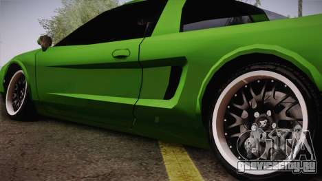 Infernus Racing Edition для GTA San Andreas вид сзади слева