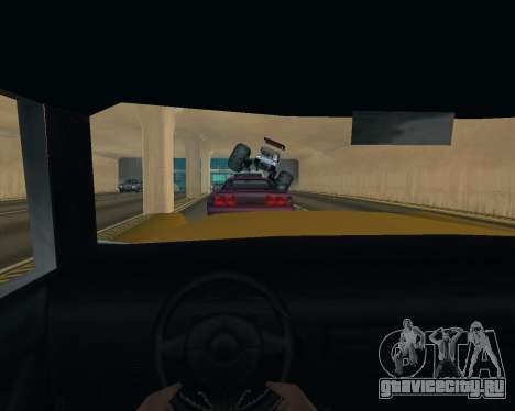 Caddy Monster Truck для GTA San Andreas вид изнутри