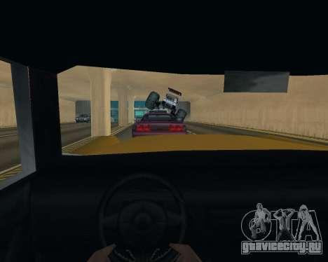 Caddy Monster Truck для GTA San Andreas вид изнутри