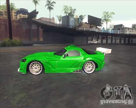Dodge Viper SRT из NFS MW для GTA San Andreas вид сзади слева
