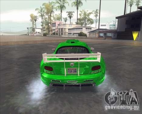 Dodge Viper SRT из NFS MW для GTA San Andreas вид справа