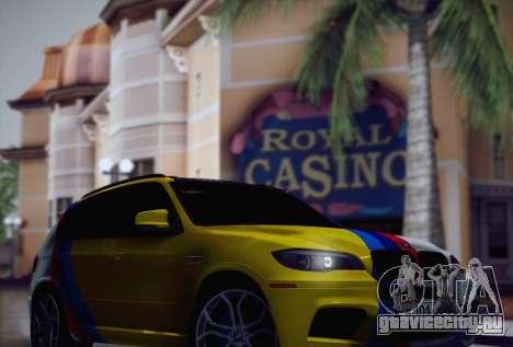 BMW X5M 2013 для GTA San Andreas вид сверху