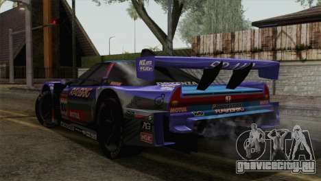 Honda NSX World Grand Prix для GTA San Andreas вид слева