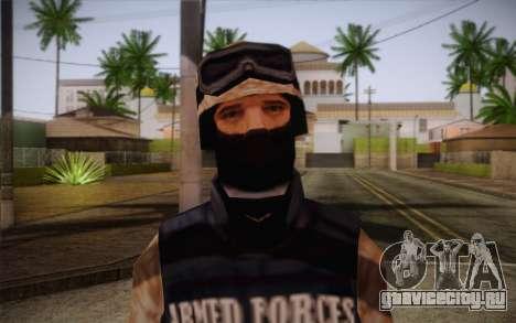 SWAT Desert Camo для GTA San Andreas третий скриншот
