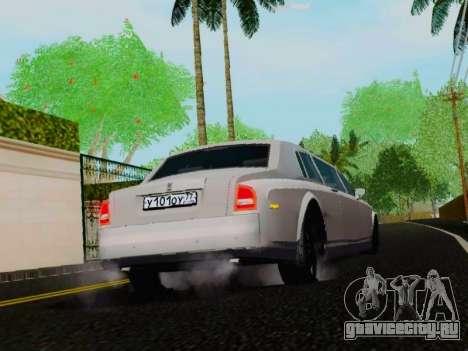 Rolls-Royce Phantom Limo для GTA San Andreas вид справа