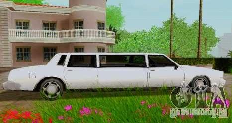 Tahoma Limousine для GTA San Andreas вид слева