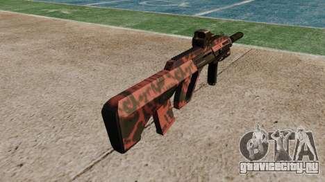 Автомат Steyr AUG-A3 Optic Red tiger для GTA 4 второй скриншот