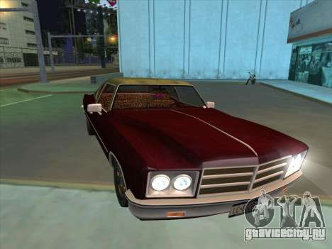 Yardie Lobo from GTA 3 для GTA San Andreas вид изнутри