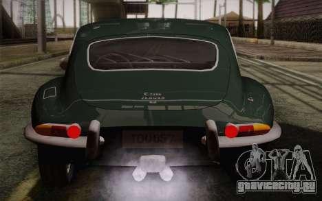 Jaguar E-Type 4.2 для GTA San Andreas двигатель