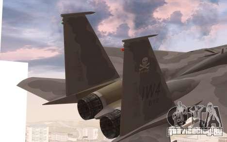 F-15C Eagle для GTA San Andreas вид сзади слева