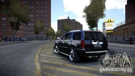 Cadillac Escalade для GTA 4 вид справа