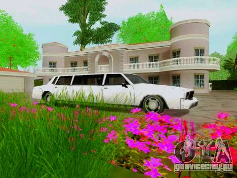 Tahoma Limousine для GTA San Andreas вид изнутри