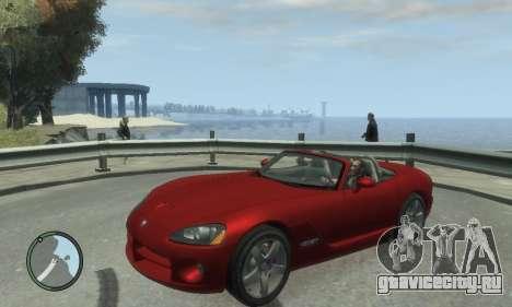 Dodge Viper SRT-10 2003 v2.0 для GTA 4 вид сзади слева